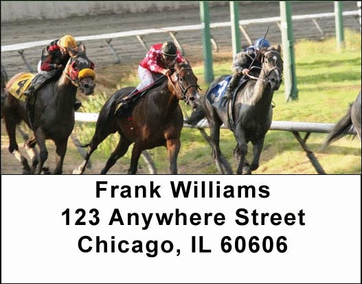 Horse Racing Address Labels - 1
