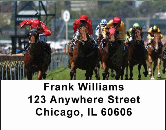 Horse Racing Address Labels - 2