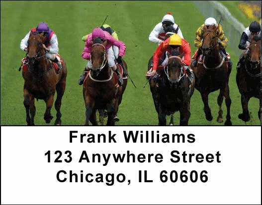 Horse Racing Address Labels - 3