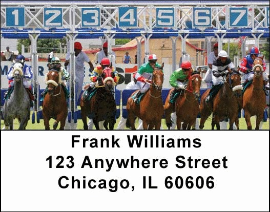 Horse Racing Address Labels - 4