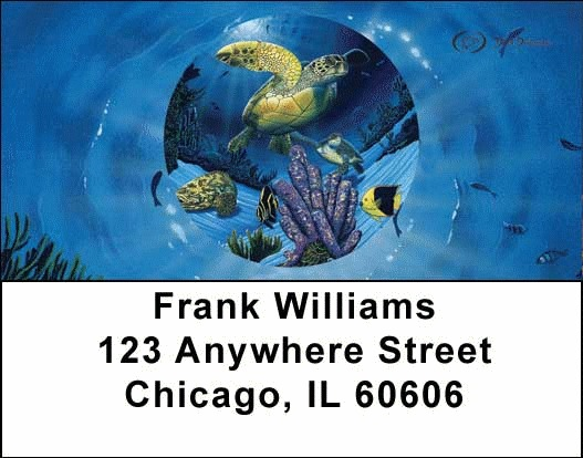 Sea Turtles Address Labels - 1