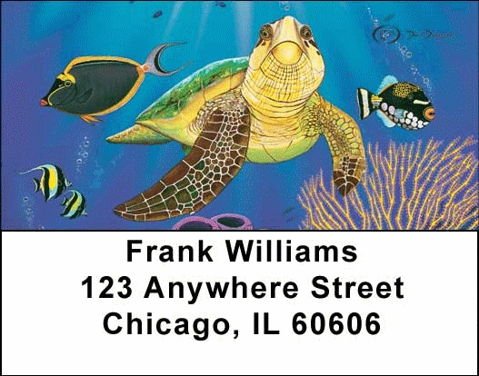 Sea Turtles Address Labels - 2
