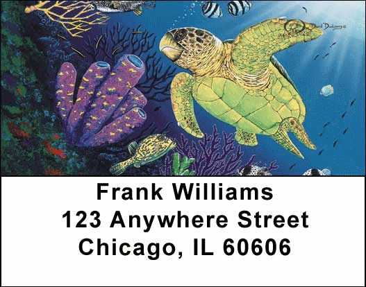 Sea Turtles Address Labels - 4