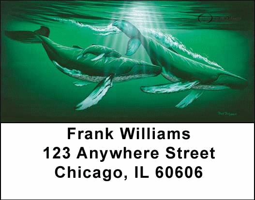 Whales and Lighthouse Address Labels - 4