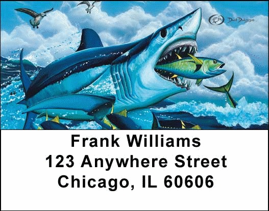Sea Life Fishing Address Labels - 1