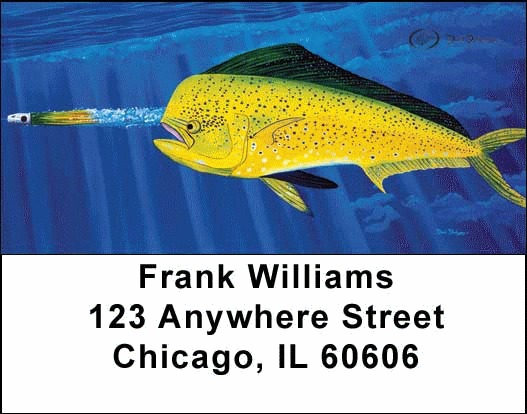 Sea Life Fishing Address Labels - 2