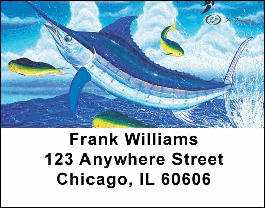 Sea Life Fishing Address Labels - 3