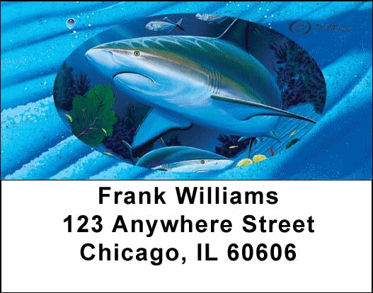 Sea Life Fishing Address Labels - 4