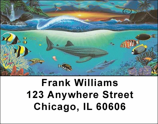 Oceans Address Labels - 4