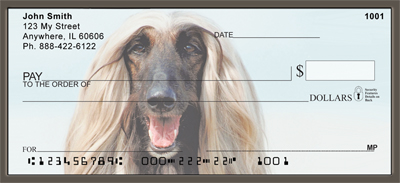 Afghan Hound Portraits Personal Checks