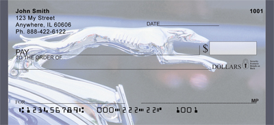 Greyhound Hood Ornaments Personal Checks
