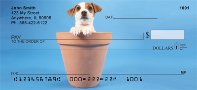 Potted Puppies Checks - 2
