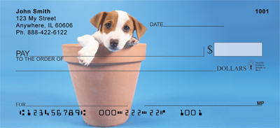 Potted Puppies Checks - 3