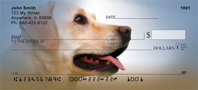 Yellow Labrador Portraits Checks - 1