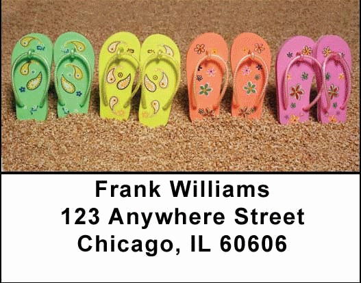 Flip Flop Address Labels - 1