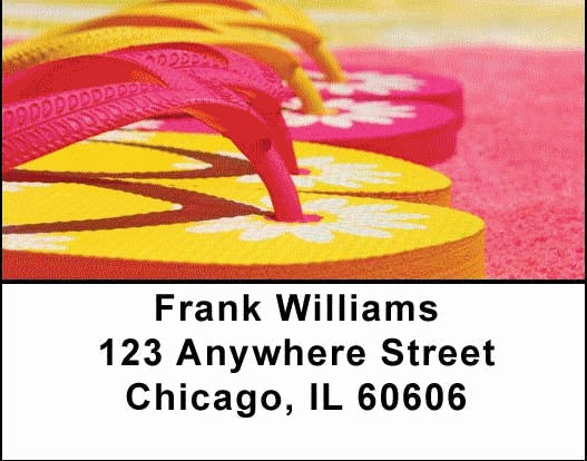 Flip Flop Address Labels - 3