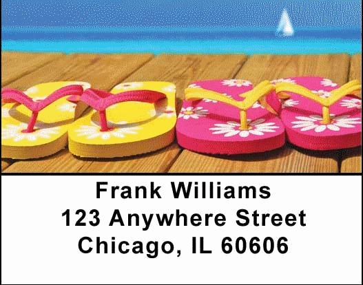 Flip Flop Address Labels - 4