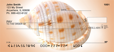 Peachy Shell Collection Personal Checks - 4