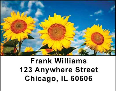 Sunflowers Address Labels - 3