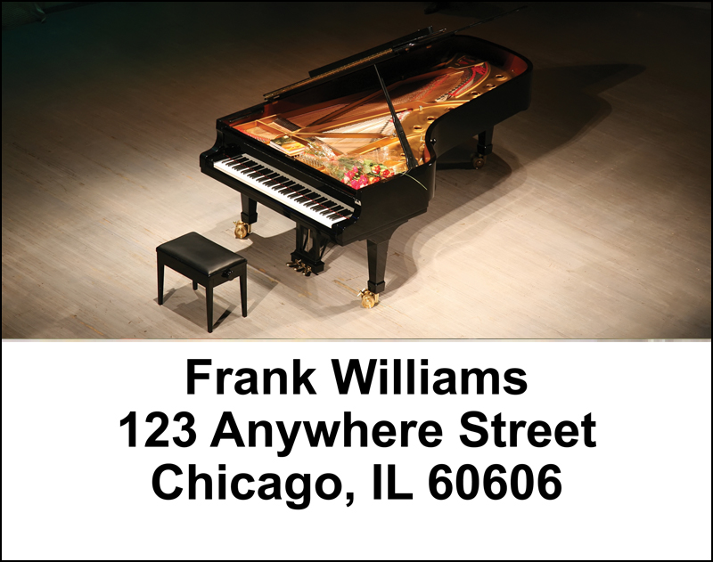Pianos Address Labels - 2