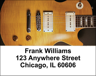 Guitars Address Labels - 2