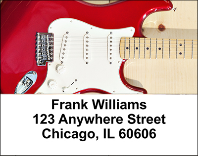 Guitars Address Labels - 3