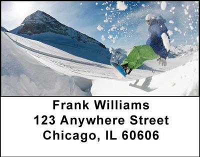 Snowboarding Address Labels - 1
