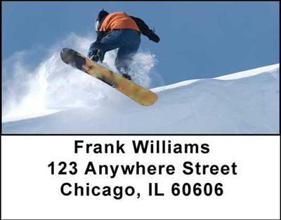 Snowboarding Address Labels - 2