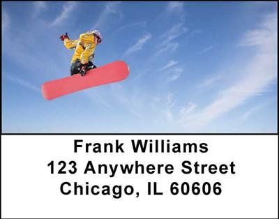 Snowboarding Address Labels - 3