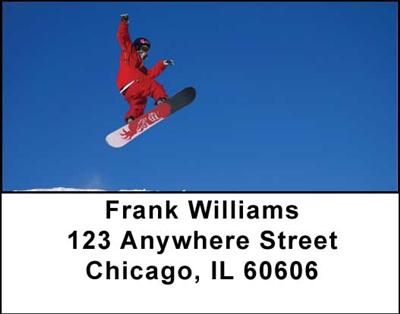Snowboarding Address Labels - 4