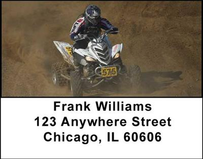 ATV Dirt Racing Address Labels, Address Labels - 2