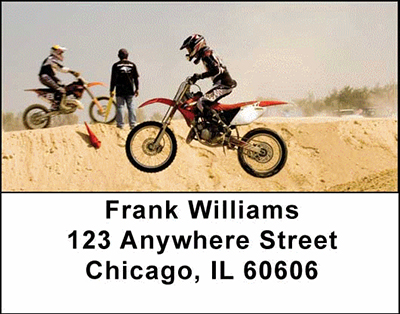 Motorcross Cycles Address Labels - 1