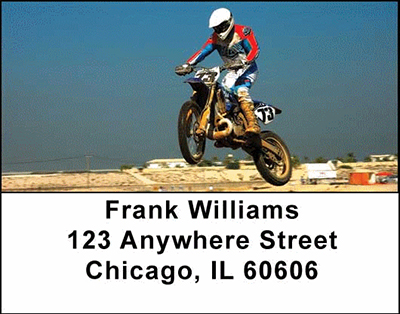 Motorcross Cycles Address Labels - 2