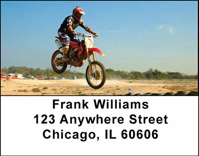 Motorcross Cycles Address Labels - 3