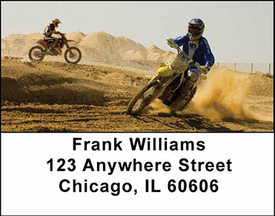 Motorcross Cycles Address Labels - 4