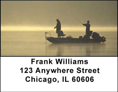Gone Fishing Address Labels - 1