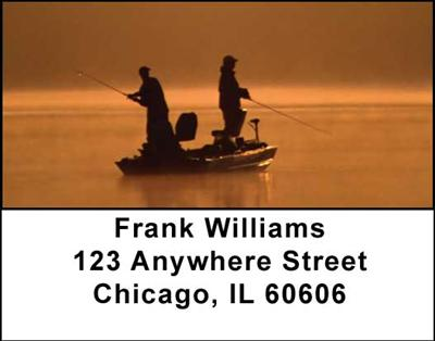 Gone Fishing Address Labels - 2