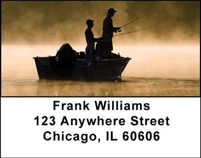 Gone Fishing Address Labels - 3