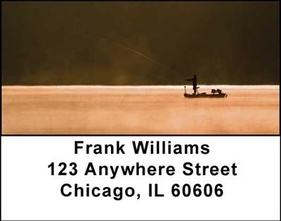 Gone Fishing Address Labels - 4