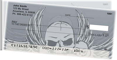 Stylish Skulls Side Tear Checks - 4