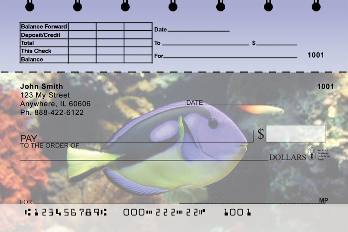 Tropical Fish Top Stub Checks - 4