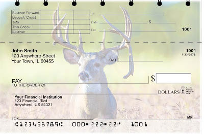 Big Horned Buck Deers Top Stub Checks - 2