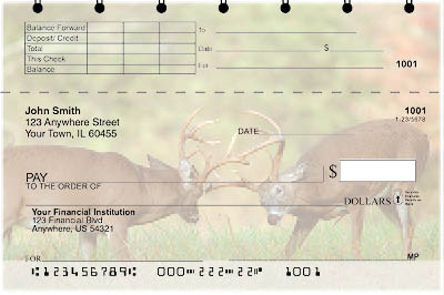 Big Horned Buck Deers Top Stub Checks - 4
