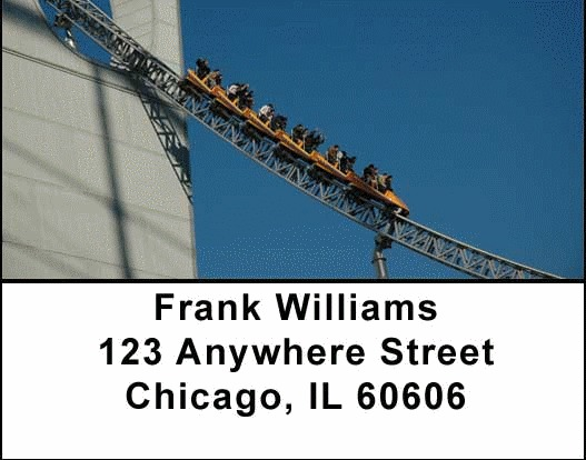 Roller Coaster Address Labels - 1