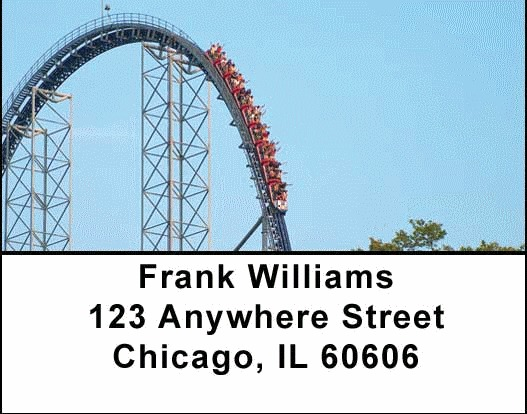 Roller Coaster Address Labels - 2