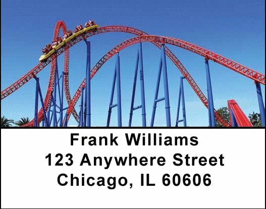 Roller Coaster Address Labels - 3