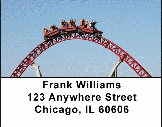 Roller Coaster Address Labels - 4