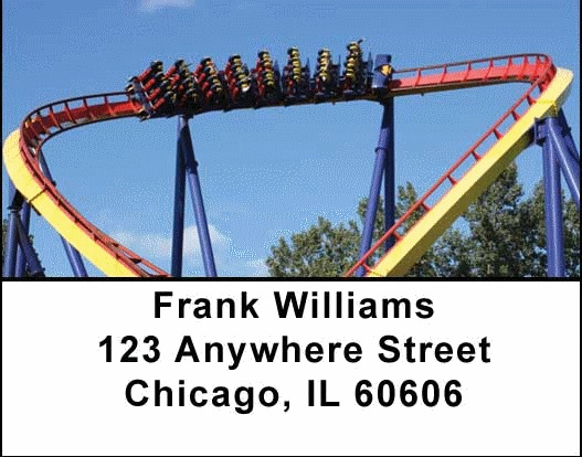 Looping Roller Coasters Address Labels - 4