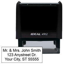 3 Line Address Stamp