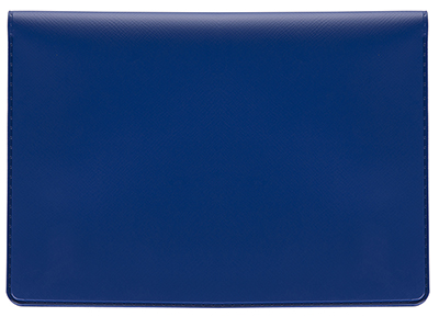Top Stub Blue Vinyl Checkbook Cover